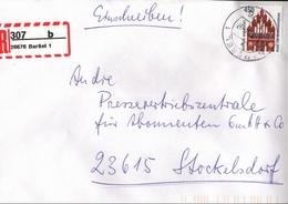 ! 1 Einschreiben  1994 Mit Selbstklebenden R-Zettel Aus 26676 Barßel - BRD