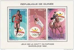 Republica De Guinea Nº Michel 1256 Al 1261 En 2 Hojas - Verano 1992: Barcelona