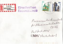 ! 2 Einschreiben  1994 Mit  R-Zettel Aus 26919 Brake - BRD