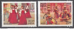 INDIA 2017, India Russia Joint Issue, Dances, Culture, Architecture, Set 2v Complete, , MNH(**). - India