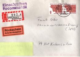 ! 1 Einschreiben Rückschein, 1996 Mit R-Zettel Aus 27632 Dorum Bei Bremerhaven - BRD