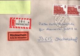 ! 2 Einschreiben, 1996 Mit R-Zetteln Aus 27283 Verden An Der Aller, Niedersachsen - BRD