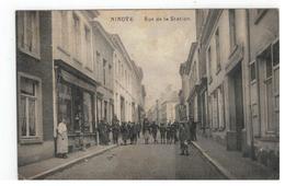 NINOVE  Rue De La Station MS Stempel 1919 - Ninove