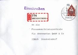 ! 2 Einschreiben 1994 Mit R-Zetteln Aus Achim 28832 - BRD