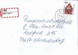 ! 1 Einschreiben 1994 Mit Selbstklebenden R-Zettel Aus 28857 Syke - BRD