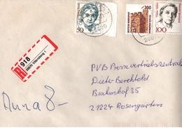 ! 1 Einschreiben 1993 Mit Selbstklebenden R-Zettel Aus 28870 Ottersberg - BRD