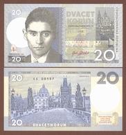 CZECHOSLOVAKIA 20 Korun 2019 UNC. Franz Kafka. Private Essay. Specimen. - Andere