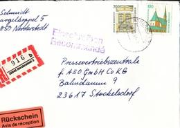 ! 2 Einschreiben 1996-1997 Mit R-Zettel Aus 22844, 22848 Norderstedt - BRD