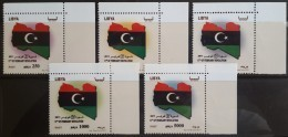 L21 - Libya 2012 MNH Complete Set 5v. - 17th Of February Revolution - 1st Issue After The Fall Of Ghada - Libya