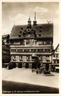 CPA AK TÜBINGEN Rathaus Mit Neptunbrunnen GERMANY (863874) - Tuebingen