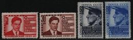 Russia / Sowjetunion 1940 - Mi-Nr. 745-748 A ** - MNH - Majakowskij (I) - Unused Stamps