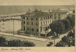 Rimini - Albergo - Villa Amati  (sul Mare) Stagione Giugno Settembre Card Has Been Glued  Colle En Dos - Rimini