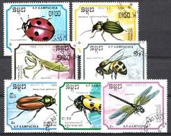 Cambodja 1988 MI.NR. 969-975 Insekten  USED / GEBRUIKT / OBLITERE - Camboya