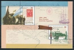 1904-2004 BASE ORCADAS ANTARTIDA ARGENTINA. AÑO 2004 JALIL-GOTTIG HB 158 HOJITA BLOCK MNH TBE -LILHU - Ungebraucht