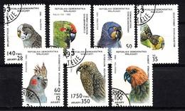 Madagaskar 1993  Mi.nr.:1423-1429 Papageien  OBLITÉRÈS / USED / GEST. - Madagaskar (1960-...)