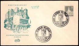 BER SC #9N124 (Mi 143) 1956 City Hall, Neukolln FDC 06-22-1956 - [5] Berlin