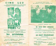 Cinémas  Leo Et  Alfa  à Uccle - Programs