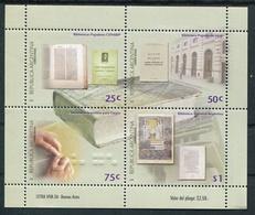 BIBLIOTECAS ARGENTINAS. AÑO 2000 GOTTIG JALIL HB 129 HOJA CON IMPRESION EN RELIEVE BRAILLE MNH TBE BLOCK FEUILLET -LILHU - Idioma