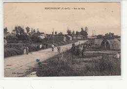 CPA- BERTINCOURT- Rue De Vélu-1922-dép62- 2 Scans (encre Bleu) Très Animée - Bertincourt