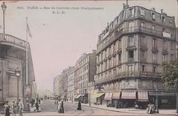 Paris XIV Rue De L'Arrivée (gare Montparnasse) Animée Dentiste Chirurgie (En Très Bon Etat) 1908 - District 14