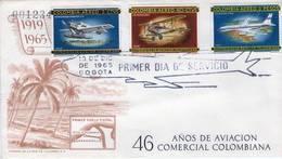 Lote 1106-10-14F, Colombia, 1965-6, SPD-FDC, Historia De La Aviacion En Colombia, Air History, Boeing - Colombia