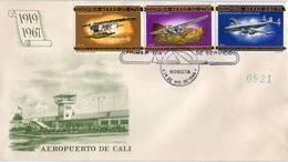 Lote 1108-9-13F, Colombia, 1965-6, SPD-FDC, Historia De La Aviacion En Colombia, Air History, Ford, Dornier - Colombia