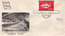 Lote E5F, Colombia, 1965-6, SPD-FDC, Historia De La Aviacion En Colombia, Air History, Jet Boeing 727 - Colombia