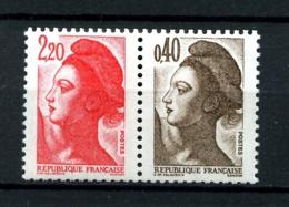 2376b -  2F20+40c - Paire Liberté De Gandon - Issus De Carnet - Neufs N** - Très Beaux - 1982-90 Liberté (Gandon)