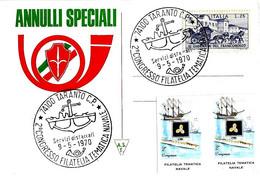 ITALIA - 1970 TARANTO 2° Congresso Filatelia Tematica Navale (ancora, Nave) - Vacanze & Turismo
