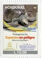Lote H2, Honduras, 2015, Sello, Stamp, Mi Ambiente, Tortuga, Jepidochelys Olivacea, Turtle, Environment Protection - Honduras