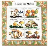 Lote 2290 Nicaragua, 1998, Pliego, Sheet, Hongos E Insectos. Mushrooms And Insects. Amanita Citrina - Nicaragua