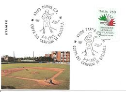 ITALIA - 1985 PARMA Coppa Dei Campioni Di Baseball (cerchi Olimpici) - Baseball