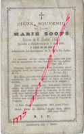 En 1880 Hazebrouck (59) Marie SOOTS ép Charles SECQ 30 Ans - Décès