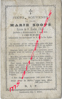 En 1880 Hazebrouck (59) Marie SOOTS ép Charles SECQ 30 Ans - Avvisi Di Necrologio