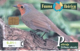 B-095 PETIRROJO FAUNA IBERICA DEL 7/01 Y TIRADA 101700   FAUNA IBERICA  (BIRD-PAJARO) - Birds