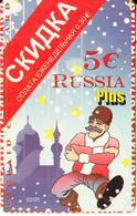 GREECE - Russia, Amimex Prepaid Card 5 Euro(807-1922), 02/05, Used - Grèce