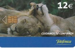 P-573  TARJETA DE ESPAÑA DE UNOS LEONES (LEON-LION) - Phonecards