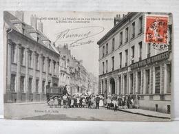 Saint-Omer. Musée Et La Rue Henri Dupuis. Hôtel Du Commerce. Animée. Attelage - Saint Omer