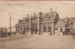 Liege Luik La Gare Du Palais Bahnhof Station Statie Caleche A Cheval Couch Carriage Koets Paard (En Très Bon Etat) - Liege