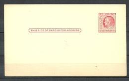 USA 1952 Postal Stationery Stamped Postal Card Ganzsache 2 C. Franklin Unused - Ganzsachen