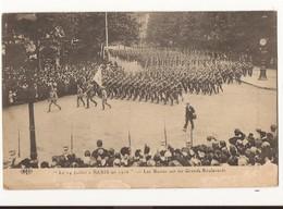 Militaria Le 14 Juillet à Paris En 1916 Les Russes Sur Les Grands Boulevards - Guerre 1914-18