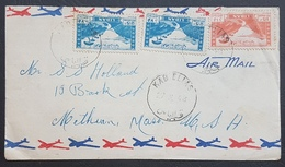 """BL Lebanon Xtrmly Rare 1948 & 1950 Rare Cancels And Clear Strikes On Two Covers, 2 Types, """"KAB ELIAS"""" Alphabets & """"KABBE - Líbano"""