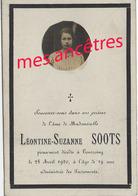 En 1920 Tourcoing (59) Photo De Léontine SOOTS 19 Ans - Décès
