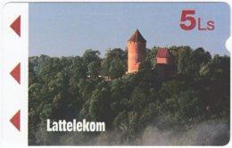 LATVIA A-114 Magnetic Lattelkom - Culture, Castle - Used - Latvia
