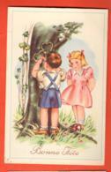 PEPF-36 Bonne Fête, Couple D'enfants Gravant Deux Coeurs Dans Un Tronc. Circulé - Anniversaire