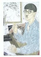 CPM Peintre FOUJITA Autoportrait 1929 Chat  - Exposition Maison De La Culture Et Du Japon - Dos Imprimé - Paintings