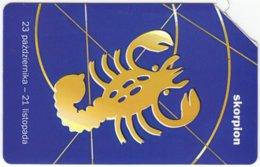 POLAND B-924 Magnetic Telekom - Signs Of Zodiac, Scorpio - Used - Poland