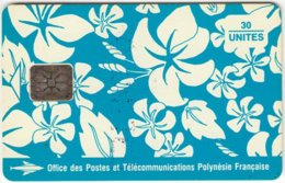 POLYNESIA A-019 Chip OPT - Painting, Flowers - Used - French Polynesia