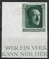 GERMANIA REICH TERZO REICH 1937 48° COMPLEANNO DI ADOLF HITLER 593 C  MLH VF - Nuevos