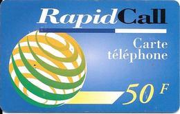 CARTE-PREPAYEE-50F-RAPIDCALL-BLEU-60U-28/02/99-Gratté-Plastic Epais--TBE - France